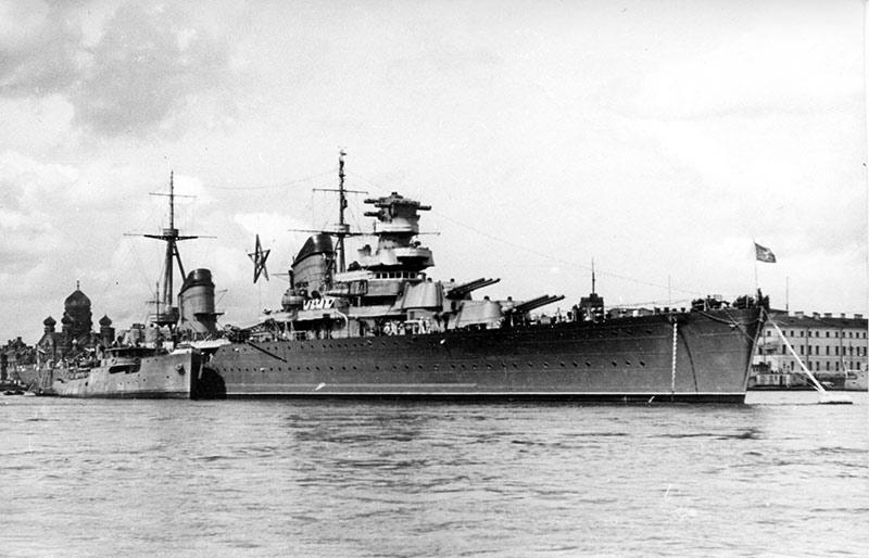 Крейсер Максим Горький, балтийский флот перед войной