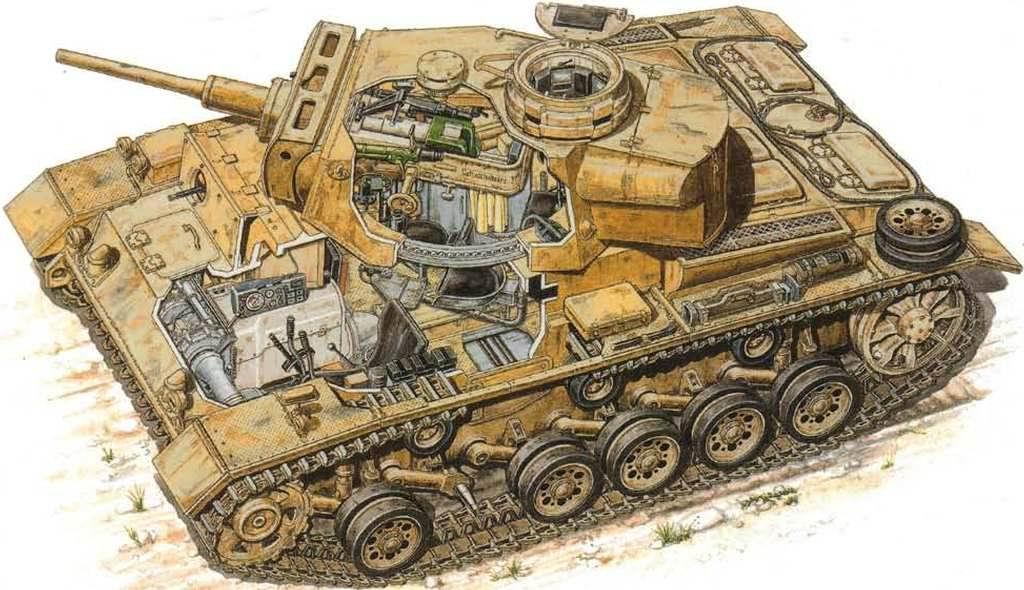 внутреннее устройство немецкого танка времен второй мировой войны Pz III