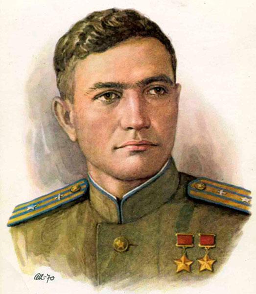 Андрей Боровых. За годы войны совершил 470 боевых вылетов, провёл свыше 130 воздушных боёв, сбил лично 32 и в группе 14 вражеских самолётов. Дважды Герой СССР