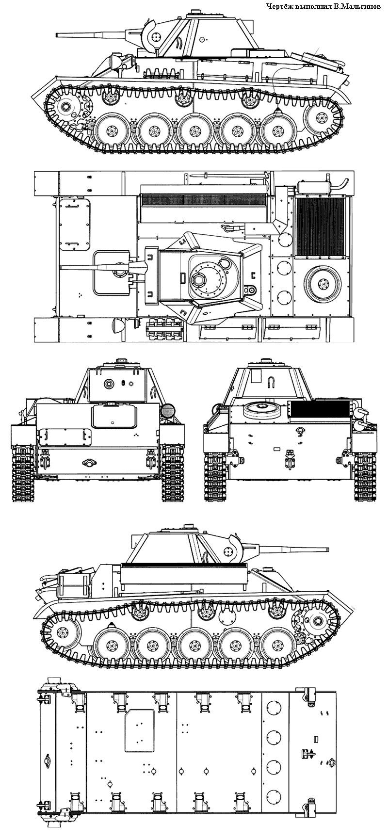 Общий вид танка Т-70М, 1943 г.