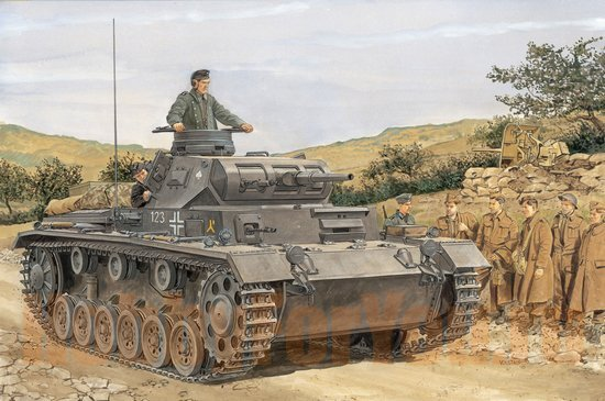 Танк PzKpfw III Ausf F