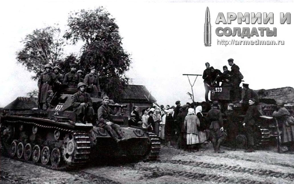 Трофейные-Pz.III-и-Pz.IV,--очевидно-118-танковой-дивизии-вермахта