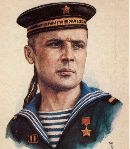 Виктор Кусков, матрос с торпедного катера. Руками закрыл пробоину в маслопроводе, из которой хлестало горящее масло тем самым спас судно от гибели.