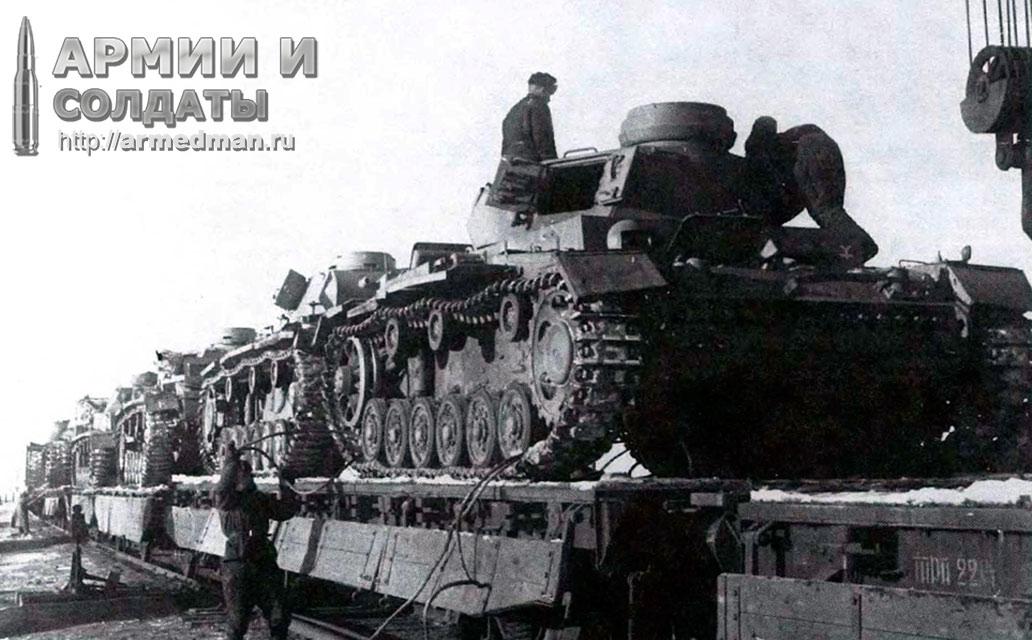 погрузка-трофейныйх-Pz.III-для-отправки-на-ремонт,-январь-1943-г.,-Сталинград-2