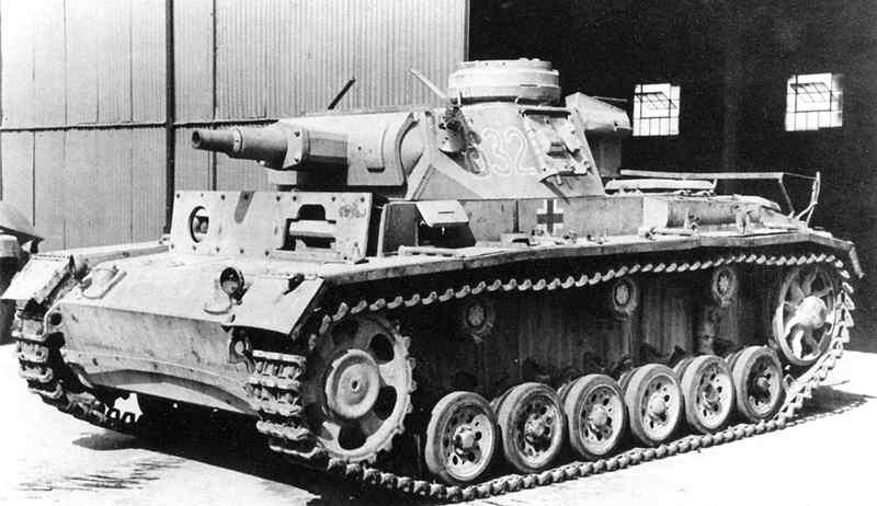 Германский танк PzKpfw III aust A