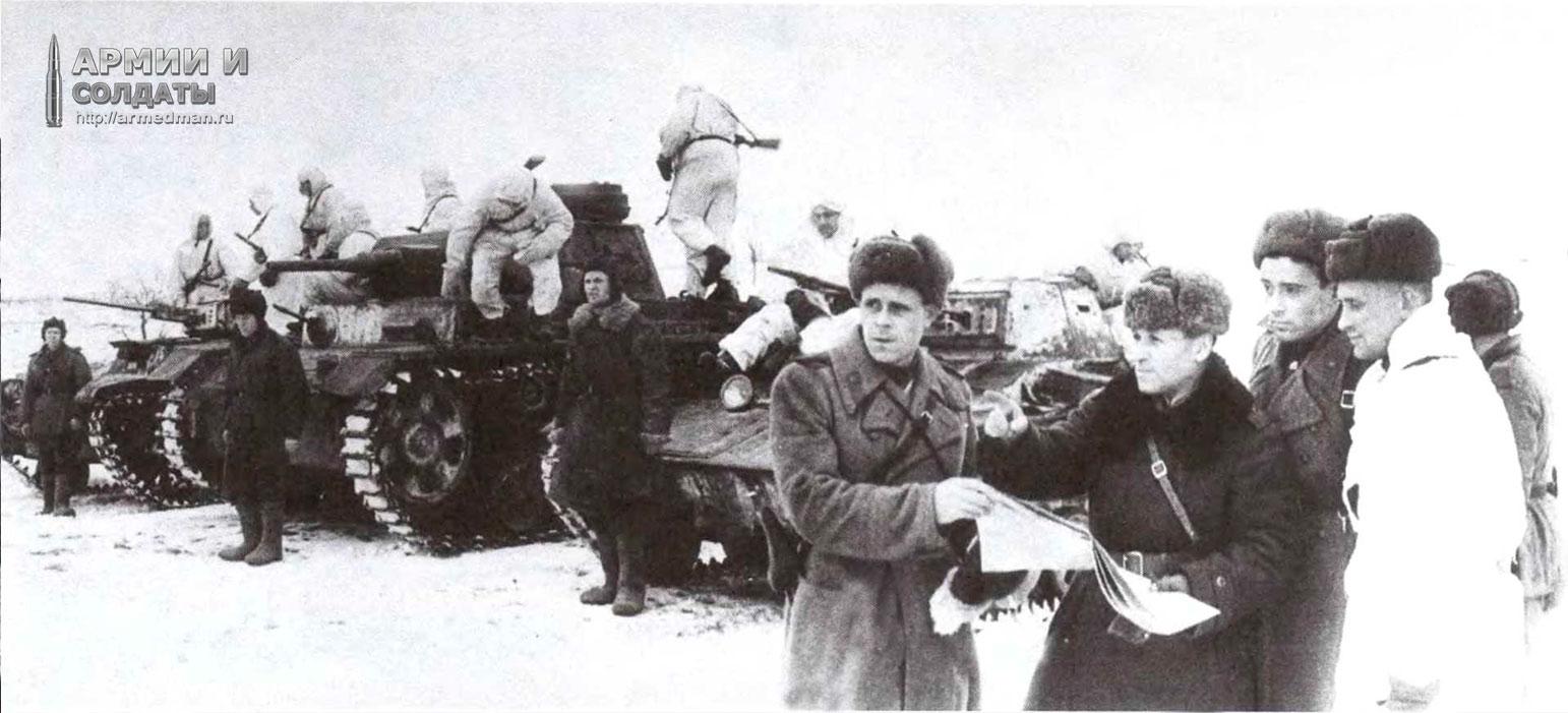 разведчики-на-танках-Т-60-и-трофейном-pz-III