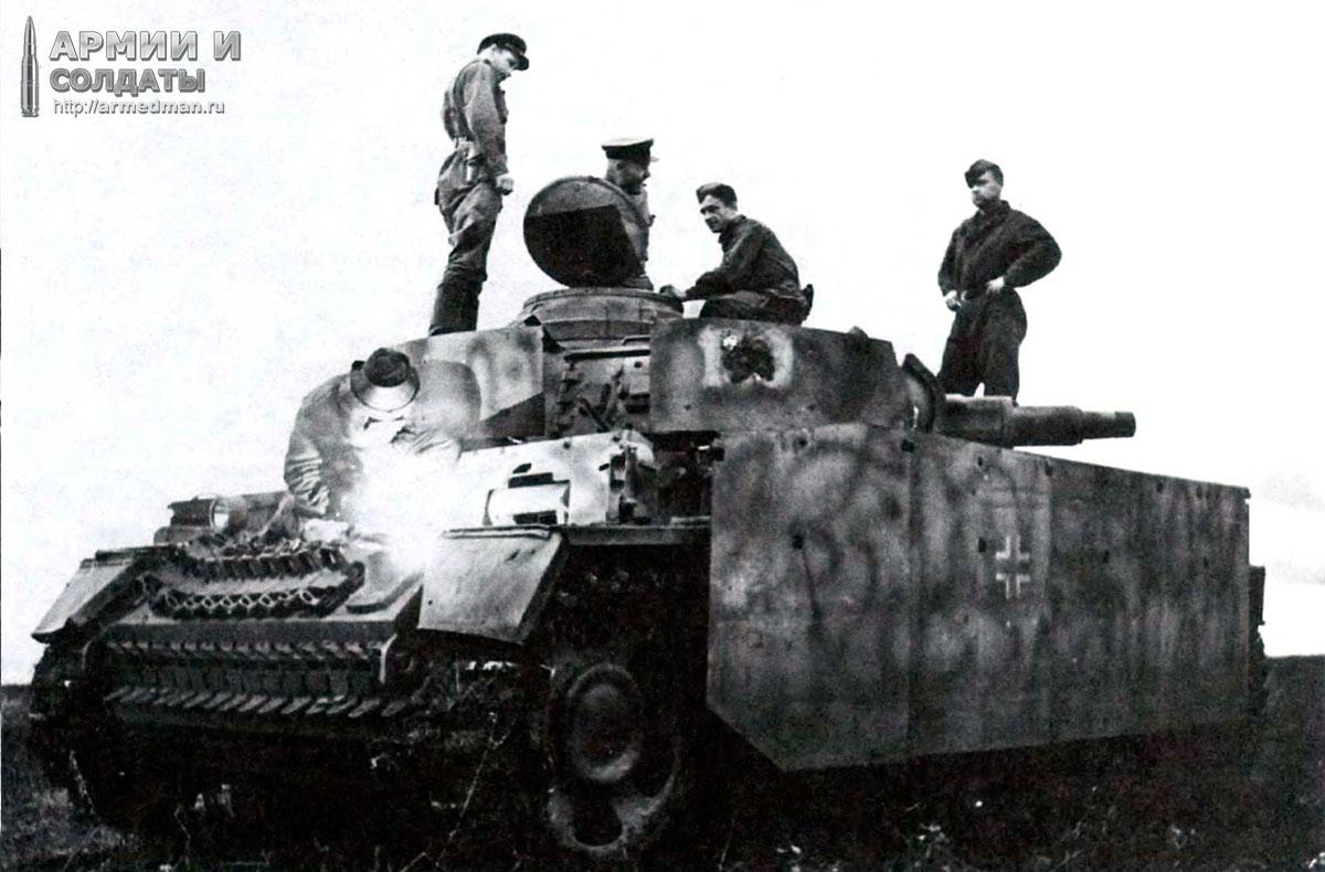 ремонт-трофейного-Pz-III-aust-N-в-полевых-условиях,-брянский-фронт,-1943