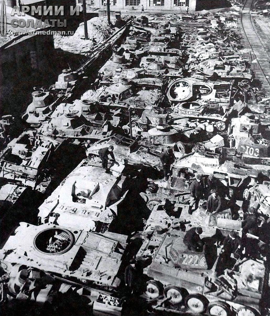 ремонтная-база-82,-трофейная-немецкая-техника-предназначенная-для-ремонта,-апрель-1942