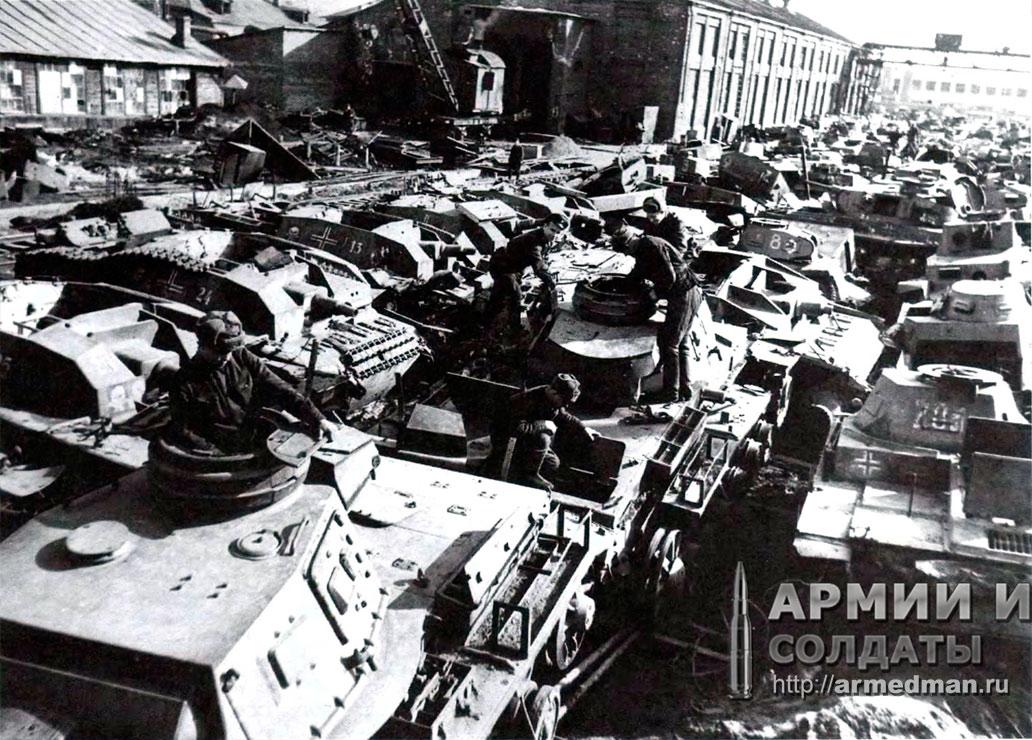 трофейная-немецкая-техника-предназначенная-для-ремонта,-апрель-1942