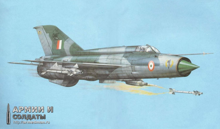 МиГ-21, истребитель второго поколения. Самолет рекордсмен - из 12 тысяч машин этого типа некоторые до сих пор стоят на вооружении в развивающихся странах