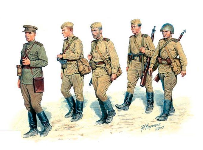 Бойцы Советской армии, 1943 год