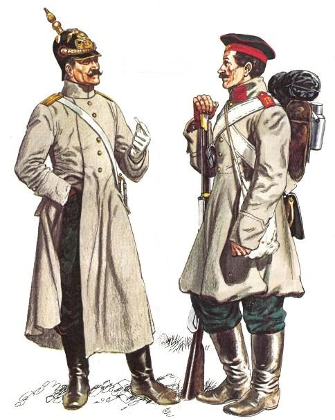 Форма солдат русской армии 19-го века.