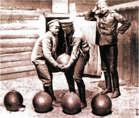 Авиабомбы начального периода первой мировой войны