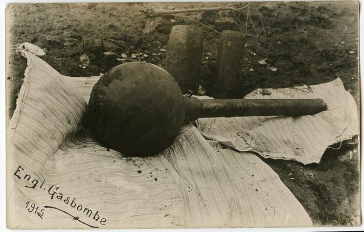 Британская авиа- то ли бомба, то ли граната. 1915 год