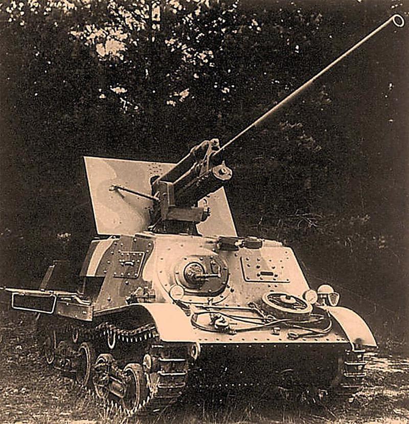"""Тягач Т-20 """"комсомолец"""" с 57-мм пушкой. Больше известен как ЗИС-30"""