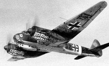 Горизонтальный и пикирующий бомбардировщик Ju-88 (Германия).