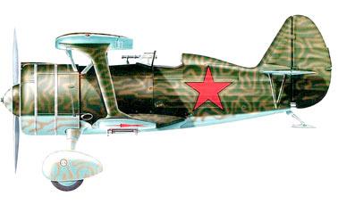 Боевое применение истребителя И-15бис