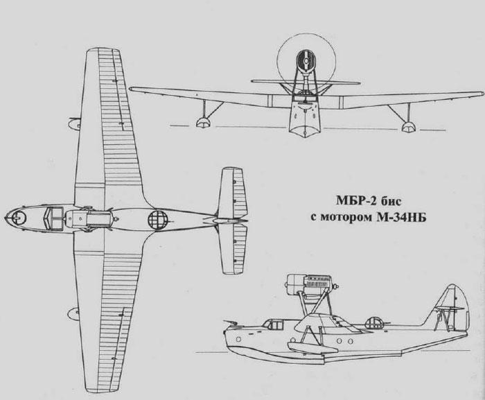 """Гидросамолет МБР-2 с надписью """"в бой за Родину!"""""""