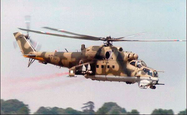 Вертолет Ми-24 - настоящий летающий танк советской группировки