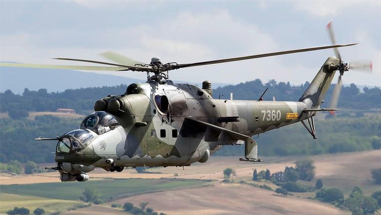 Вертолет Ми-24 - красивый, запоминающийся силуэт. Силуэт породистого хищника