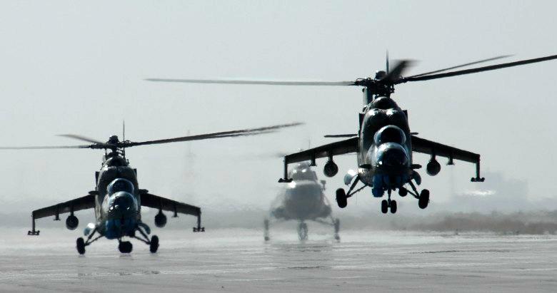 боевые вертолеты Ми-24