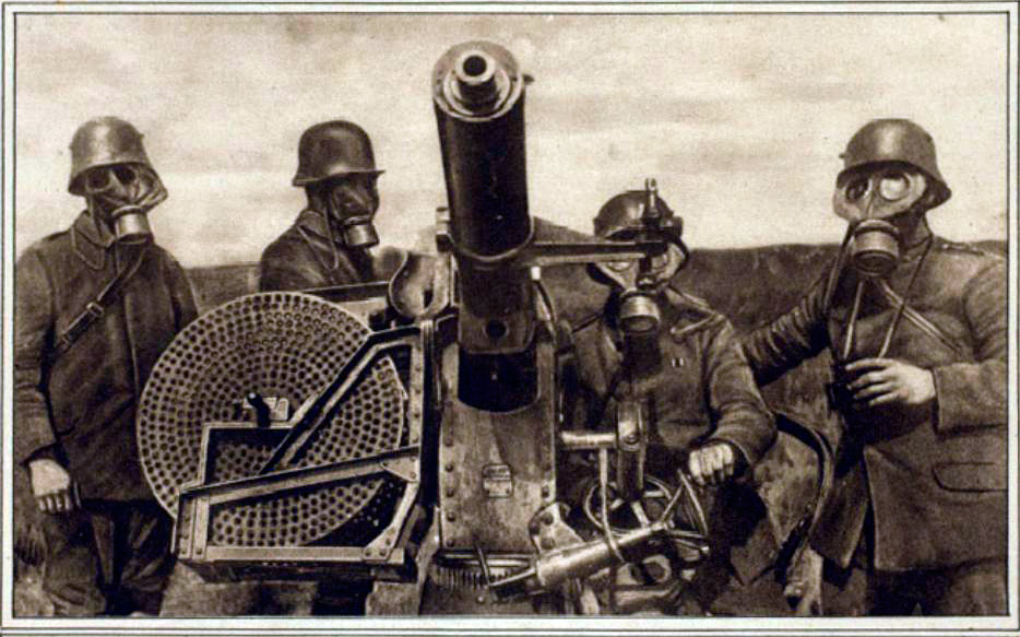 Германский расчет ПВО явно готовится не только к атакам с воздуха