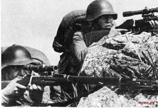Снайперы с винтовкой Мосина, образца 1891/30 г.г.