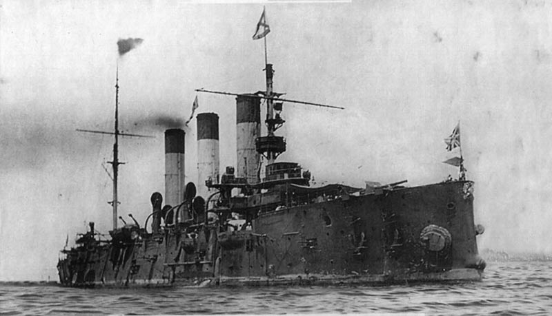 """Крейсер """"Аврора"""" в Маниле, 1905 г."""