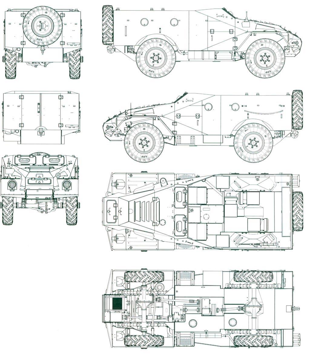 Чертеж БТР-40