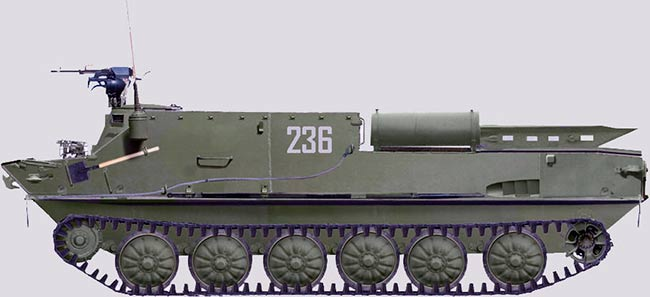 Бронетранспортер БТР-50, вид сбоку