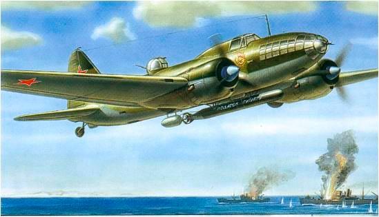 Ил-4 торпедоносец, (с коробки модели от ОАО Звезда)