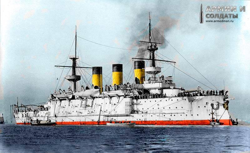 """""""Пересвет"""" в 1901 г., в средиземноморье. Оцветненние фото - armedman.ru ="""