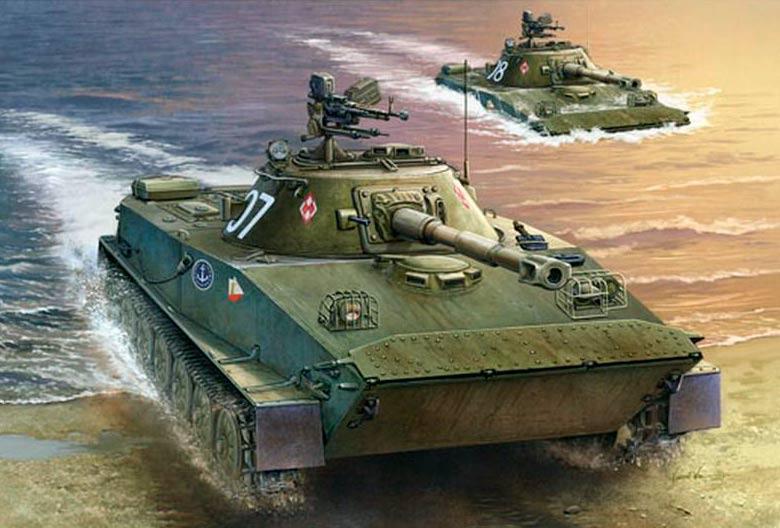 Плавающий танк ПТ-76