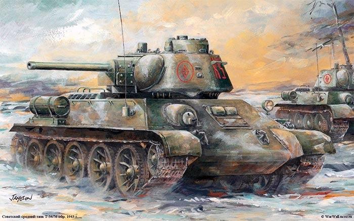 Т-34-76 образца 1943 г. Поздний выпуск
