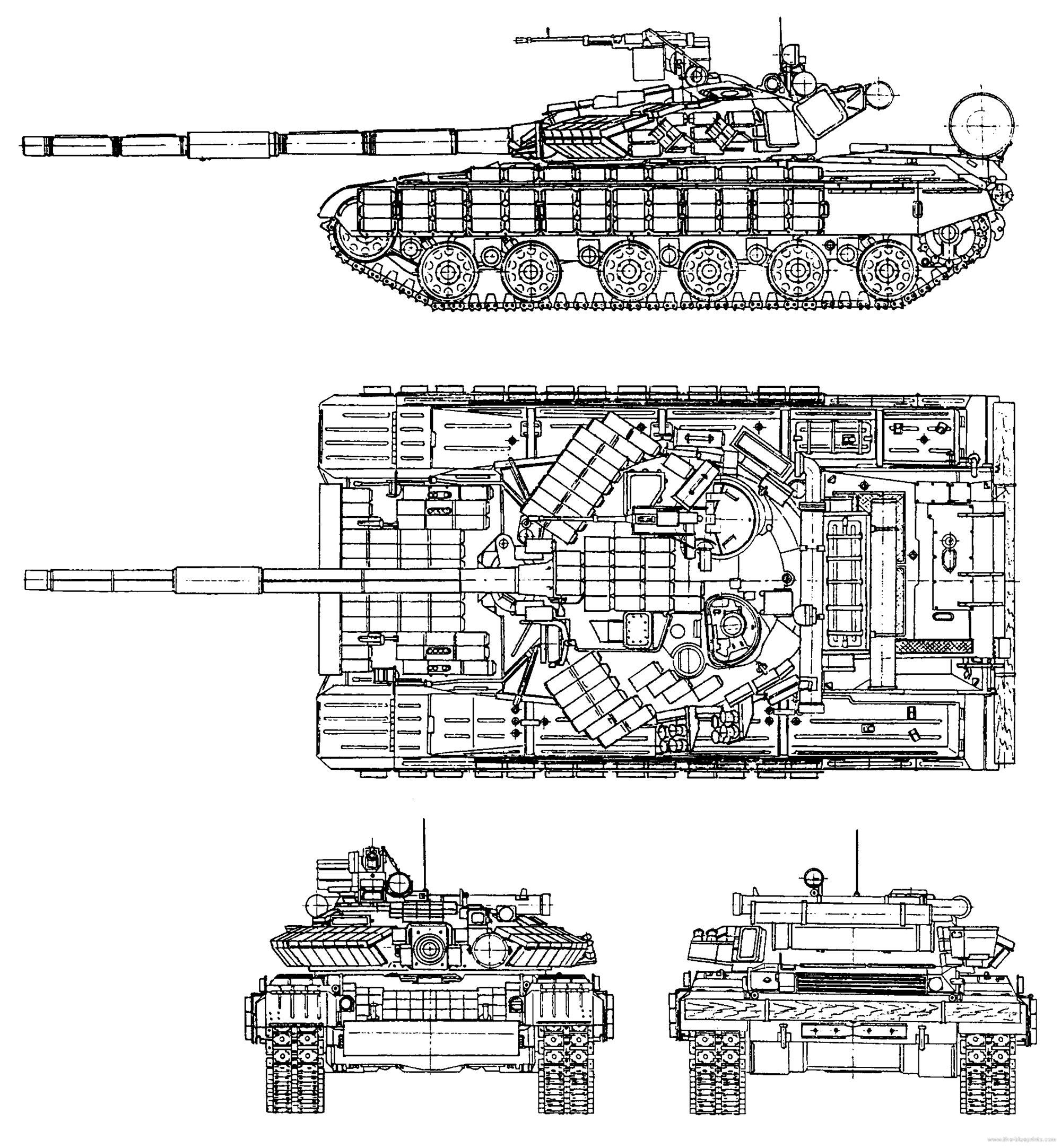 Чертеж основного боевого танка Т-64