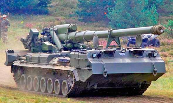 203-мм самоходная пушка 2С7М «Малка» (2С7 «Пион»).
