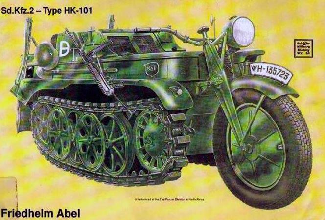 Полугусеничный мотоцикл Kettenkrad HK-101  (Sd.Kfz.2)