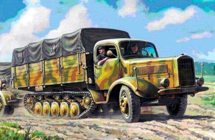 "Полугусеничный грузовик ""Maultier"" от фирмы Мерседес"