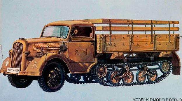 """Полугусеничный грузовик """"Maultier"""" от фирмы Опель"""