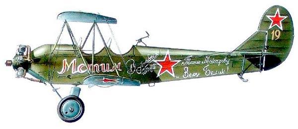 Учебный самолет ПО-2 (У-2)