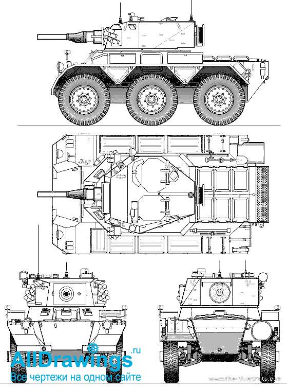 Чертеж бронеавтомобиля FV601 «Саладин»