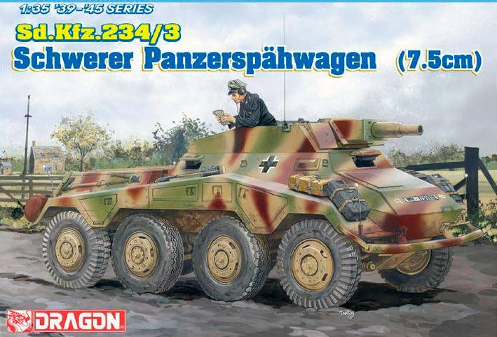 75-мм САУ на базе Schwerer Panzerspahwagen Sd.Kfz 234