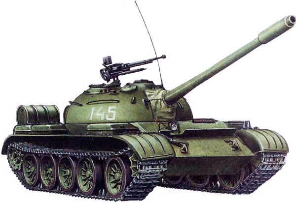 Средние танки Т-54 и Т-55