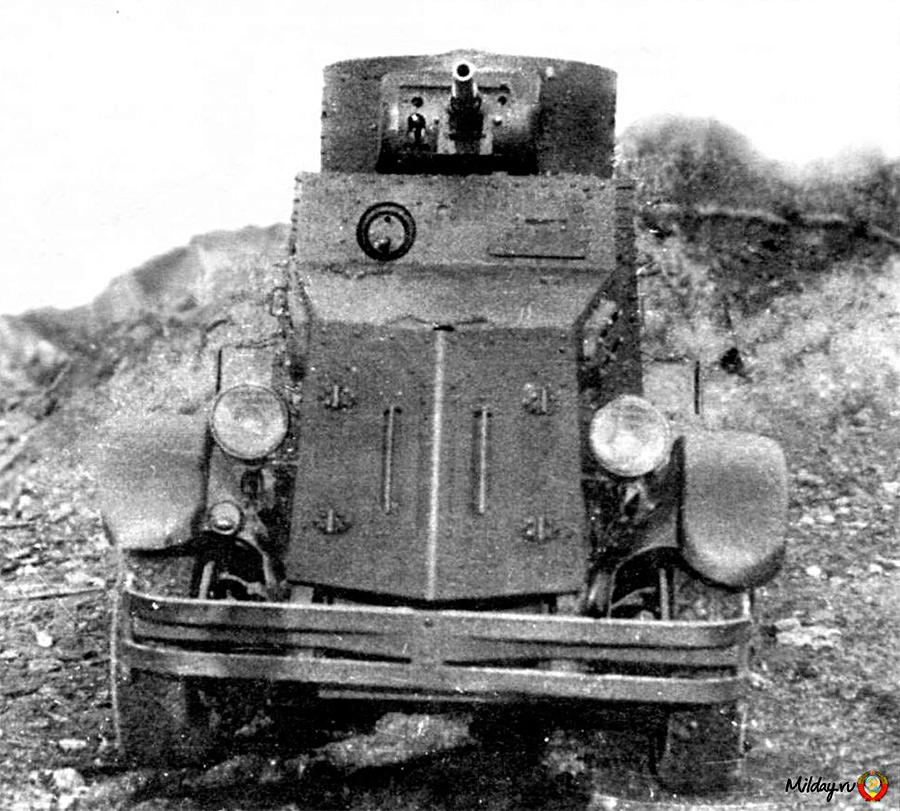 Бронеавтомобиль БА-5, вид спереди