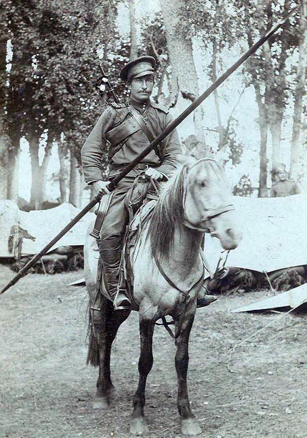 Казак с кавалерийской пикой