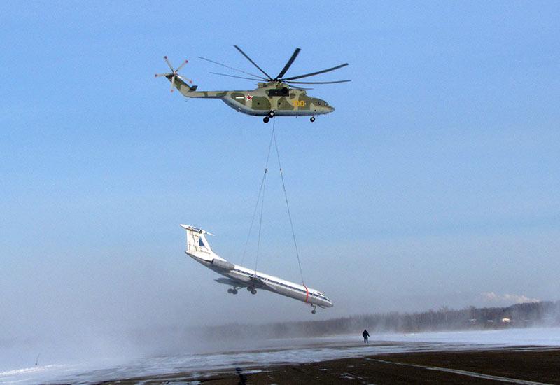 Фотография характеризующая вертолет Ми-26 лучше всяких слов и характеристик