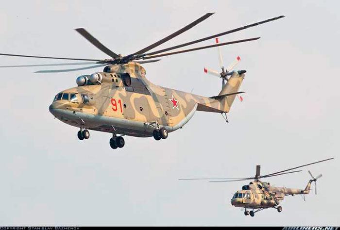 Для сравнения: вертолеты Ми-26 и Ми-8. А ведь Ми-8 маленьким никак не назовешь.