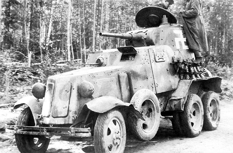 Один из финских БА-10
