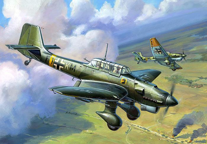 Пикирующий бомбардировщик Юнкерс Ju.87 «Штука»