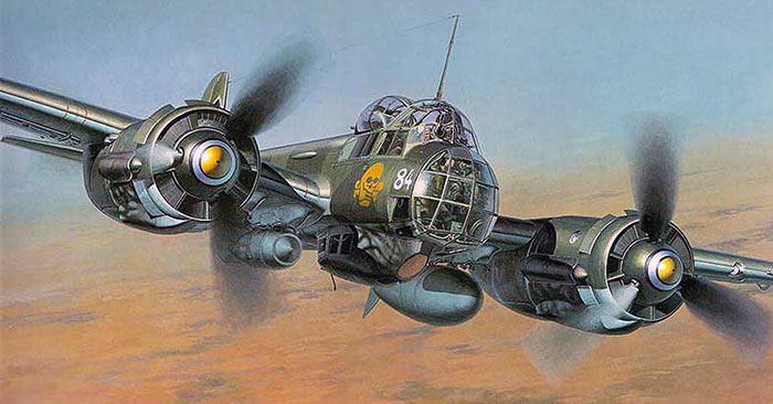 Бомбардировщик Юнкерс Ju-88.